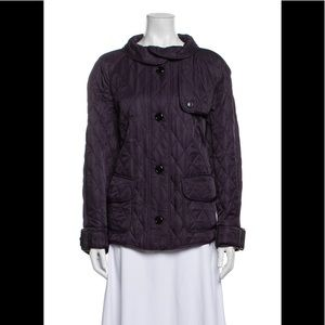 Burberry London Purple Quilted Jacket, size XL